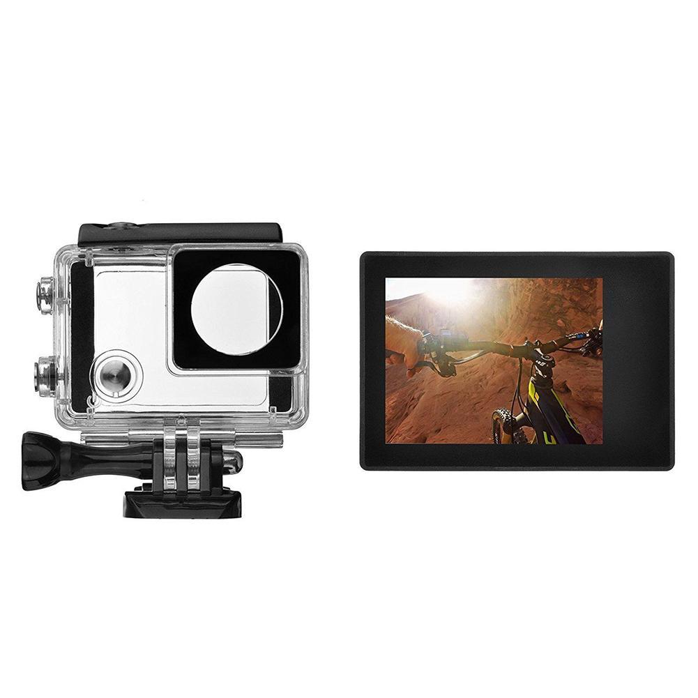 Pantalla LCD externa de 2,0 pulgadas, Monitor para GoPro Hero 4 + 3, con funda