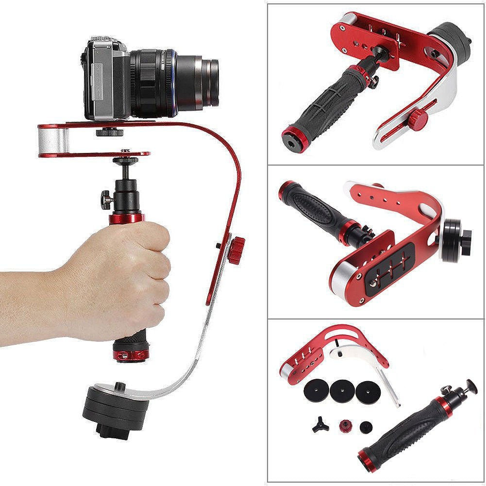 Aluminum Handheld Digital Camera Stabilizer gimbal smartphone DSLR 5DII Motion camera Steadycam for Gopro Dji sony xiaomi iphone