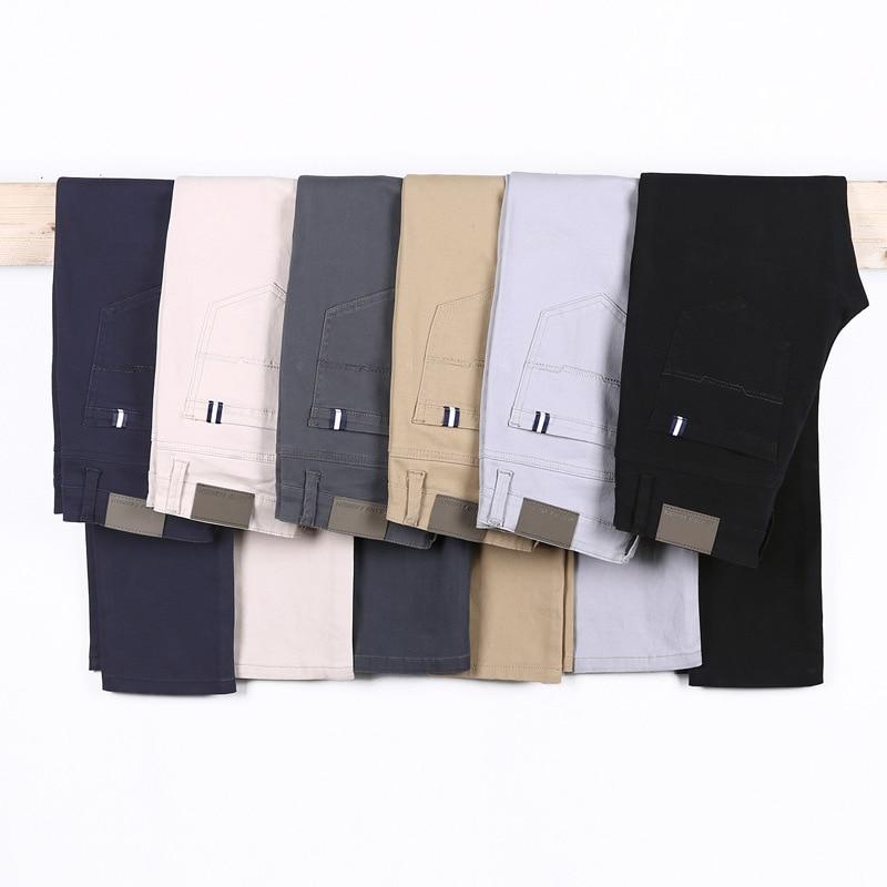 Мужские повседневные Прямые брюки 6 цветов, новинка весны 2020, деловые модные повседневные эластичные брюки, мужские брендовые серые, белые, ...