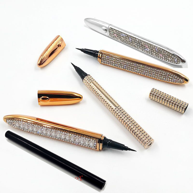 20pcs/lot Magic Self-adhesive Eyeliner Pen Glue-free Magnetic-free for False Eyelashes Waterproof No Blooming Eye Liner Pencil