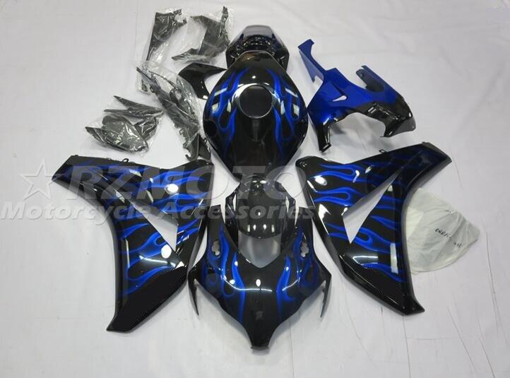 4 هدايا جديد ABS حقن دراجة نارية Fairings عدة صالح لهوندا CBR1000RR 2008 2009 2010 2011 08 09 10 11 هيكل مجموعة لهب الأزرق