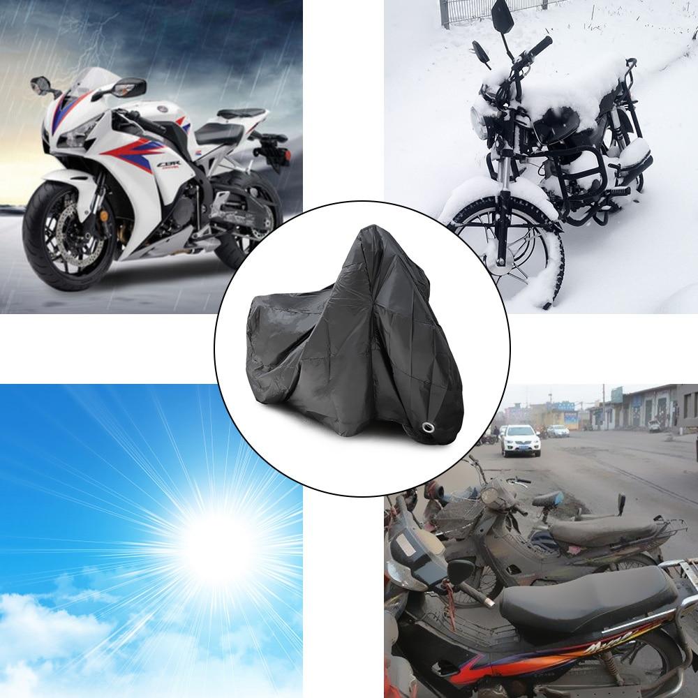 Universal M L XL 2XL 3XL 4XL de la lluvia de la motocicleta cubre al aire libre Bicicleta Todo temporada UV Protector impermeable a prueba de lluvia cubiertas para abrigos