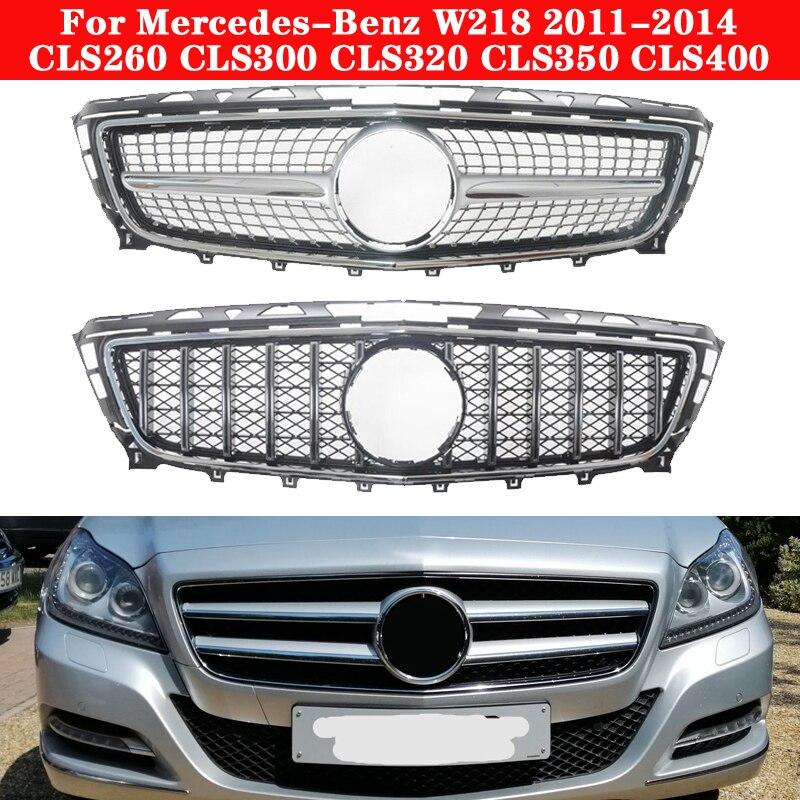 Auto styling Mitte grille für Mercedes-Benz CLS-klasse W218 2011-2014 ABS kunststoff GT kühlergrill CLS300 CLS350 vertikale bar