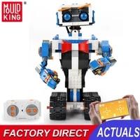 mould king rc intelligent programming robot boost model building blocks diy creative educational assembly bricks toys for kids