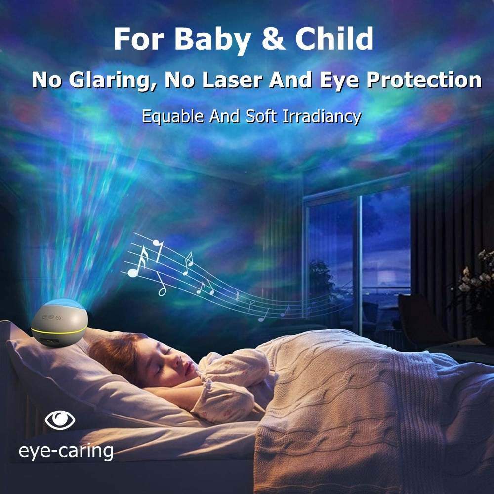 Sky Night Light Ocean Projector Starry Sky Projector For Children With Bluetooth Beam Projector For Children's Table Night Lamp enlarge
