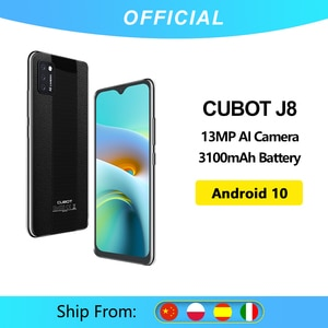 Cubot J8 смартфон 5,5 дюймов тройной Камера Android 10 Dual SIM карты телефон 3100 мА/ч, Батарея 2 Гб Оперативная память + 16 Гб Встроенная память 3G Android телефо...