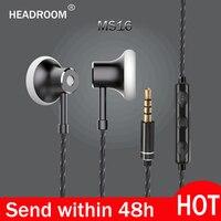 Наушники HEADROOM MS16 с микрофоном, Спортивная Hi-Fi гарнитура для бега, женские и мужские наушники, стерео бас для iPhone 7, Android, mp3-плеер
