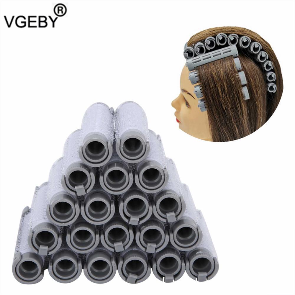 DIY Hair Styling Tool 20pcs Hair Perm Rods Fluffy Perming Rod Hair Roller Curler Hairdressing Tool K