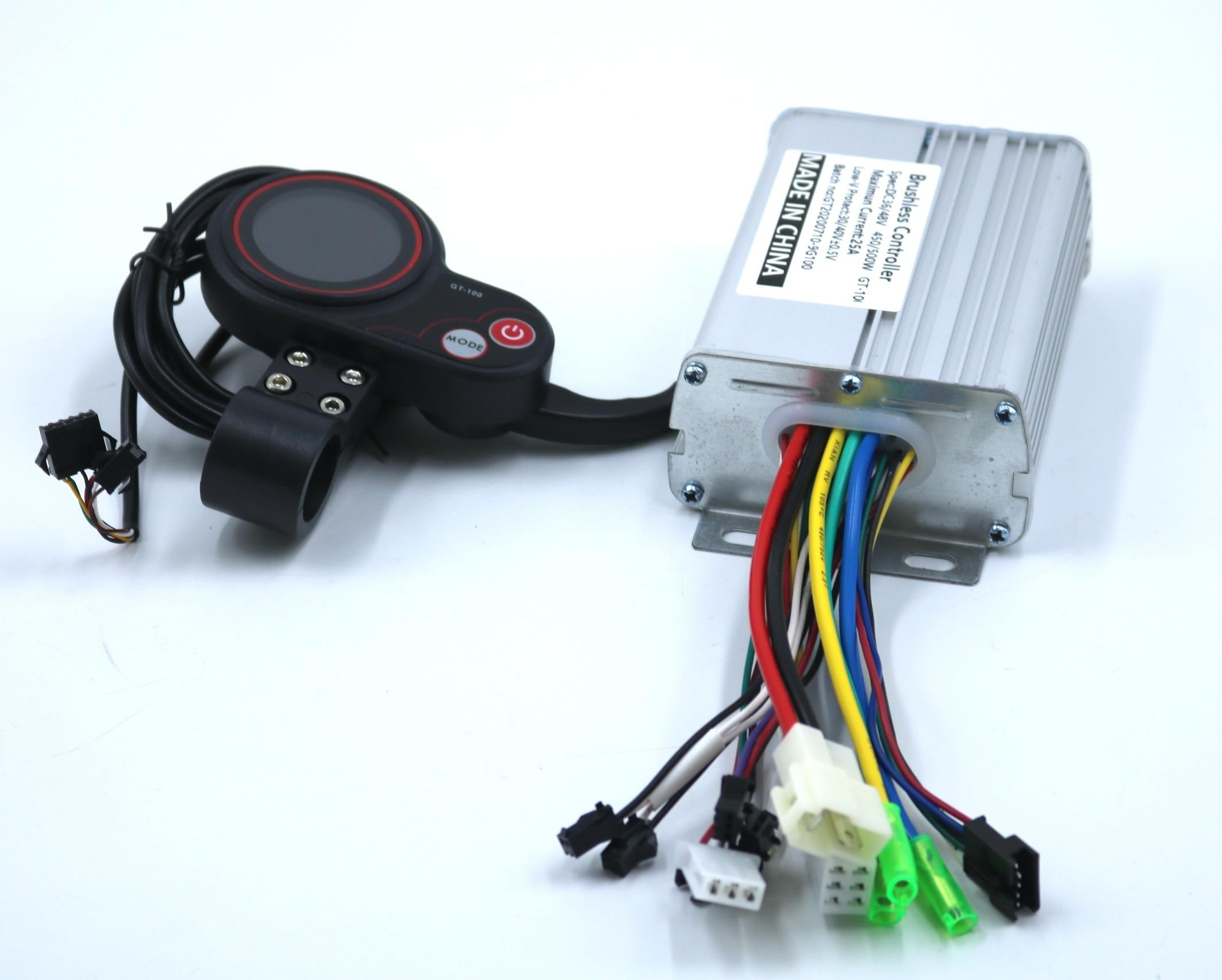 GREENTIME-وحدة تحكم للسكوتر الكهربائي ، محرك بدون فرش ، شاشة LCD ذكية ، 36V/48V/52V/60V 500W 25A BLDC ، مجموعة واحدة