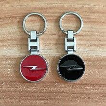 Métal double face pour OPEL emblème porte-clés Pop culture style noir rouge voiture porte-clés Auto accessoires décoration