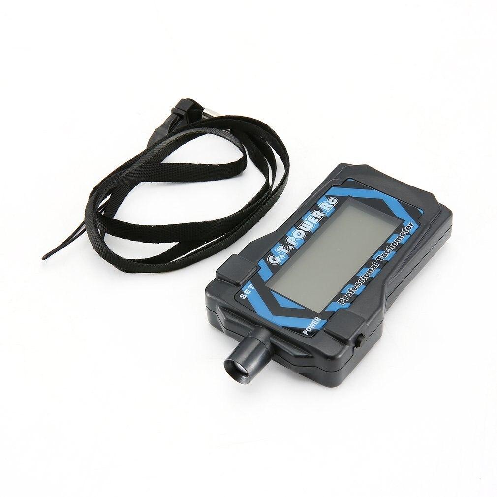 GT. POWER RC Micro tacómetro Digital LCD para 2-9 Blade Auto Apagado con batería de botón de litio extraíble de 220mAh