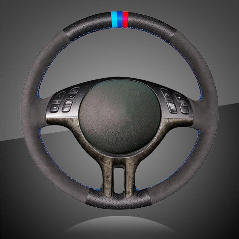 Авто оплетка на руль чехол для BMW E39 E46 325i E53 X5 аксессуары для интерьера чехол рулевого колеса автомобиля Стайлинг автомобиля