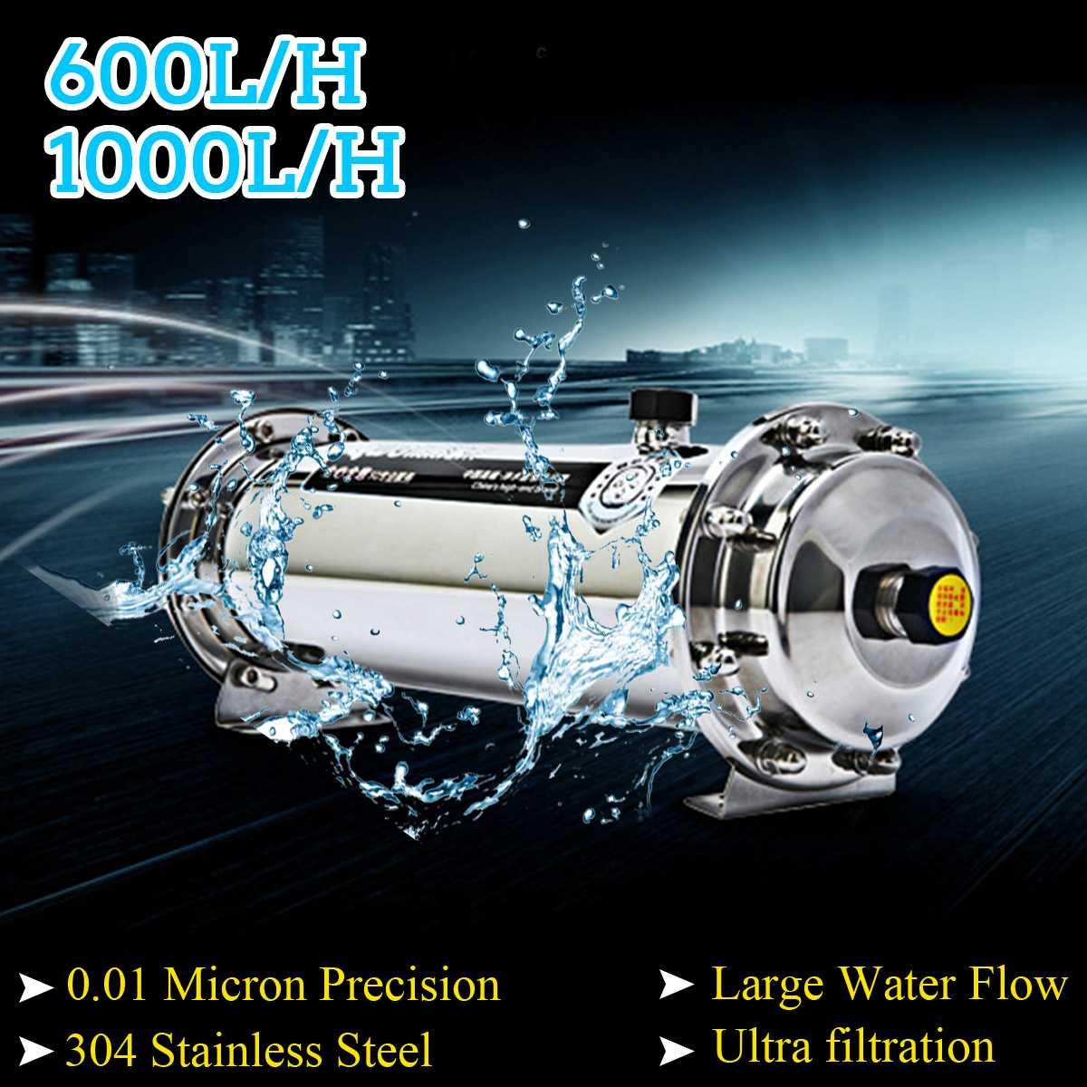 600L/1000L 304 filtro de agua de acero inoxidable de ultrafiltración purificador de agua de la casa comercial cocina beber directamente UF filtros