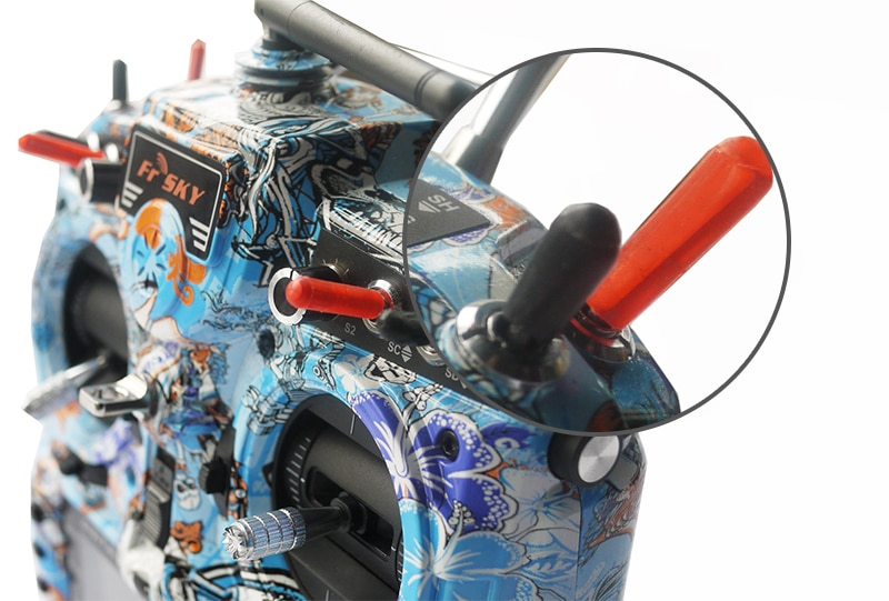 Transmisor FrSky X7 X12S X9DP, palo antideslizante, tapa del interruptor, funda