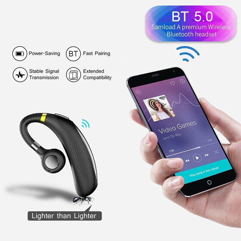 Fone de Ouvido Fone de Ouvido sem Fio Fone de Ouvido para o Telefone Bluetooth Handsfree Fones Mini Fio para o Telefone Móvel Android sem