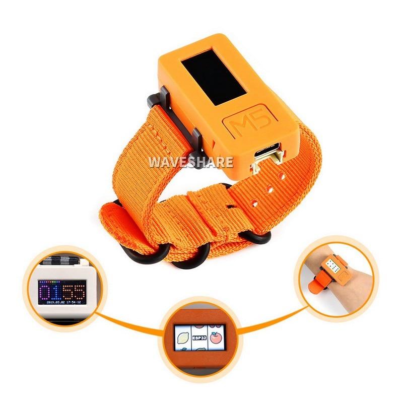 M5stickc relógio inteligente kit de desenvolvimento iot wearable alimentado por esp32