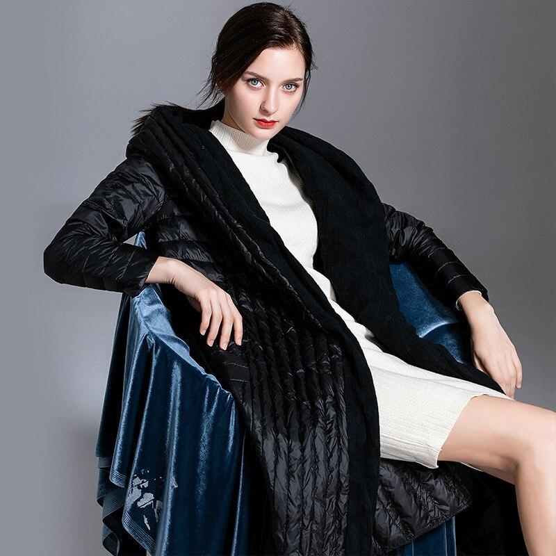 Women down coats luxury autumn winter warm fashion 90% white duck Jackets Female lady down jacket hooded  streetWear Parkas