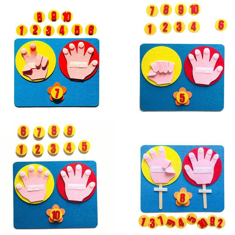 Фото - Математические игрушки Монтессори, учебные пособия, в форме руки, интеллект, детский сад, сделай сам, тканевый Развивающие Игрушки для ранне... развивающие игрушки knopa дидактический набор мой сад