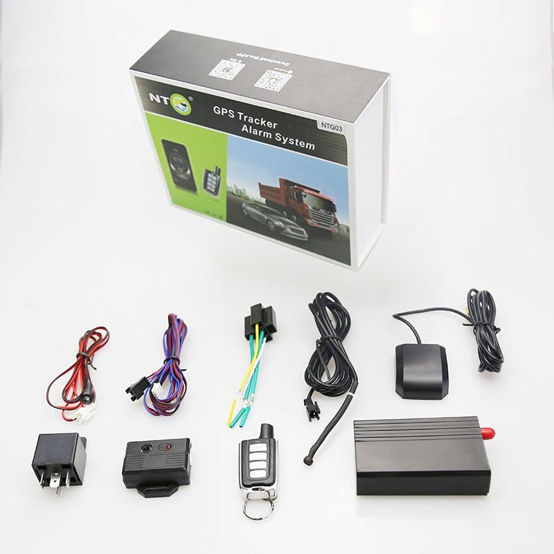 Gps tracker sistema de entrada sin llave de coche bloqueo/desbloqueo/alarma de vibración/combustible remoto cortado por aplicación NTG03