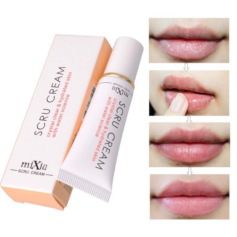 Maquillaje crema exfoliante para labios ELIMINACIÓN DE lutiness Gel claro cristalino cuidado Scru crema de agua bálsamo exfoliante labios hidratados T2L6