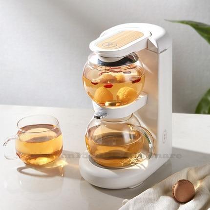 إبريق شاي صغير للمكتب الصحي ، إبريق شاي بالساعة الرملية ، فصل الماء ، أباريق شاي للحفاظ على الحرارة تلقائيًا ، آلة شرب