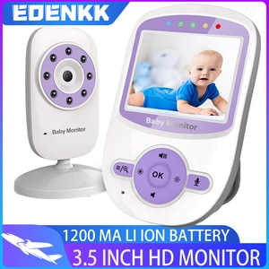 Video Baby Monitor with Camera and Audio, Remote, Room Temperature, Infrared Night Vision, Two-Way Talk,Lullaby, ECO Long Batte
