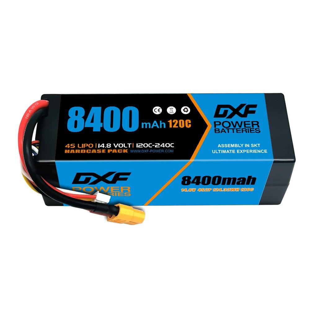 2PCS DXF Battery 4S 2S 3S Lipo 7.4V 11.1V 14.8V 8400mAh 8000mah 5200mah 110C 120C 100C HardCase for RC Car Truck enlarge