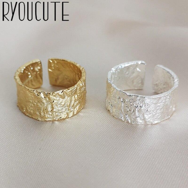 Anillos geométricos Irregular de Color plateado Vintage para amantes de las mujeres anillo de dedo regalos del Día de San Valentín