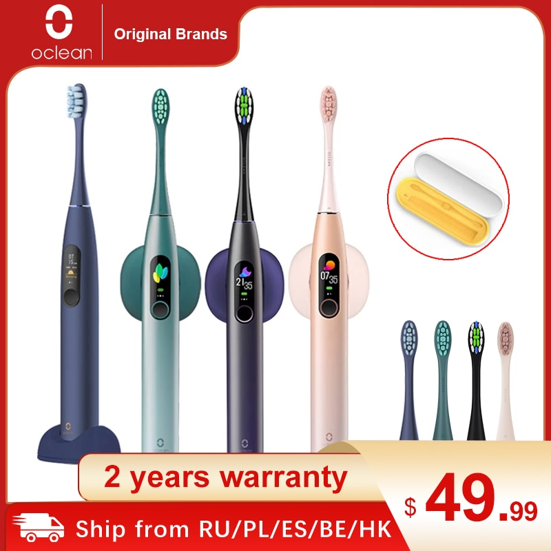 Global Version Oclean x pro Sonic Electric Toothbrush Adult IPX7 2-in-1 Charger Holder Color Touch S