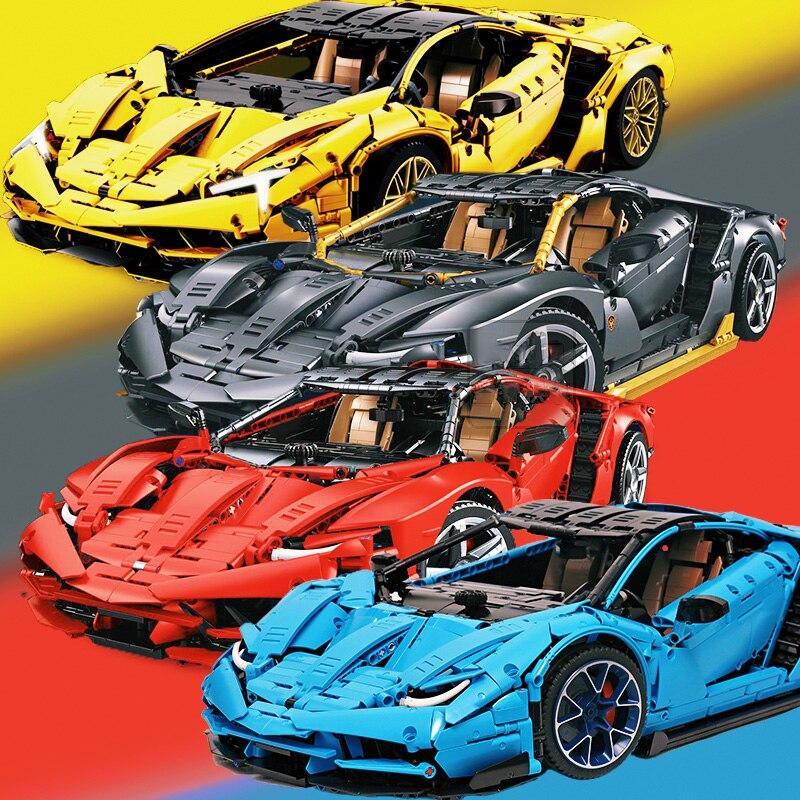 2020 جديد سوبر الرياضة سباق السيارات اللبنات الطوب سينتناريو 1:8 Hypercar MOC-39933 لعب للأطفال الأصدقاء هدية الكريسماس
