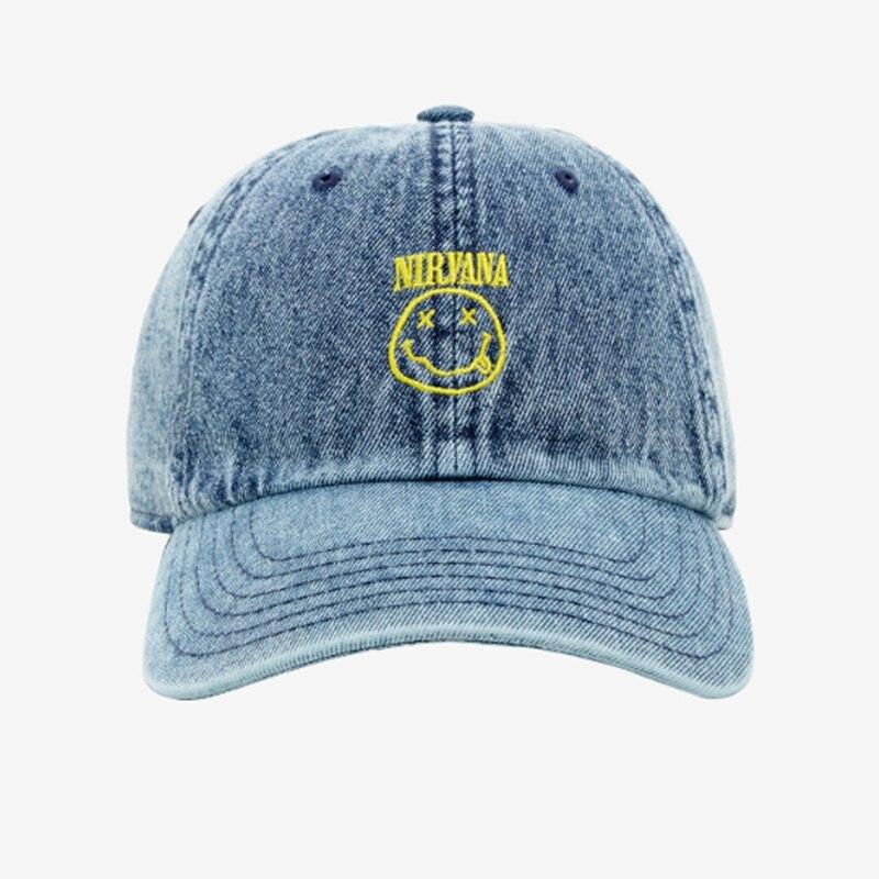 NIRVANA DENIM Snapback gorra de béisbol de algodón para hombres mujeres ajustable Hip Hop papá sombrero hueso abierto casqueta Dropshipping
