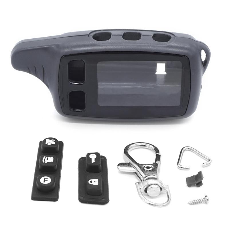 TW9010 чехол Брелок для ключей чехол для Tomahawk TW 9010 9030 9020 ЖК-пульт дистанционного управления двухсторонняя Автомобильная сигнализация брелок цепь брелок