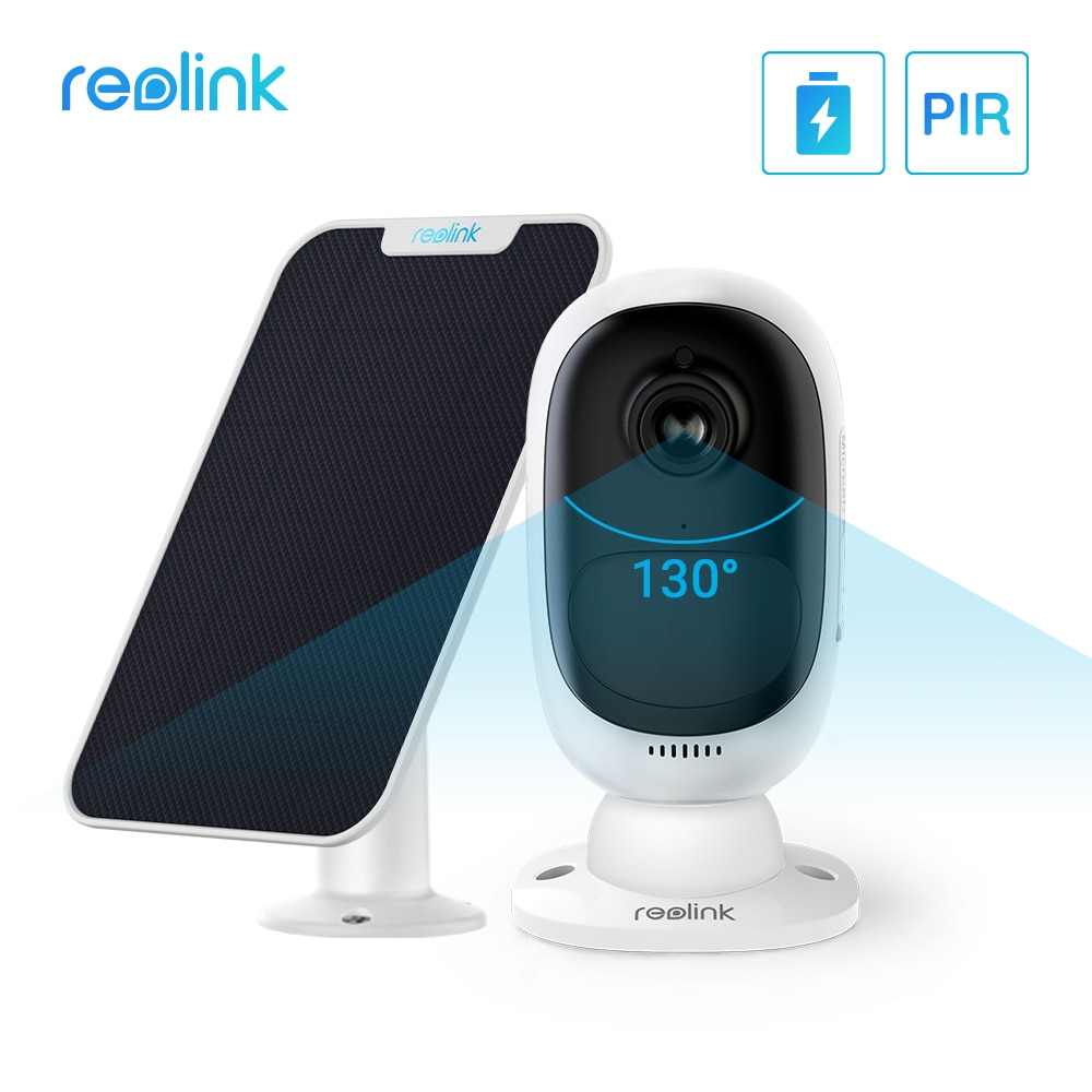 Reolink Argus 2-كاميرا لوحة شمسية WiFi 1080p ، دقة عالية ، زاوية عرض 130 درجة ، صوت ثنائي الاتجاه ، بطارية قابلة لإعادة الشحن ، Google Home