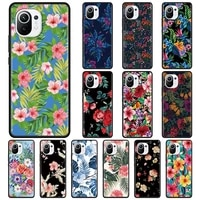 hot tropical flowers colourful silicone case for xiaomi mi 10t pro note 10 11 lite 5g 9t a2 8 lite cc9 pro cc9e 9 pro 5g cover