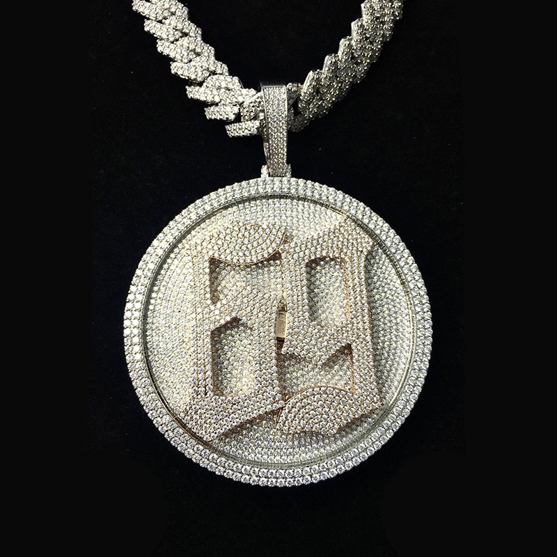 P&Y Custom Vvs D Moissanite Diamond HipHop Fashion Jewelry Number 69 Iced Out Rotatable Pendant CZ Spinning 69 Pendant For Men