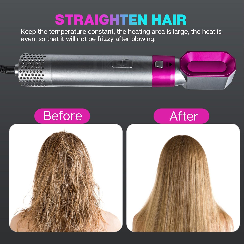 5 In 1 One Step Hair Dryer & Volumizer Rotating Hairdryer Hair Straightener Comb Curling Brush Hair Dryers For Hair Styling Tool enlarge