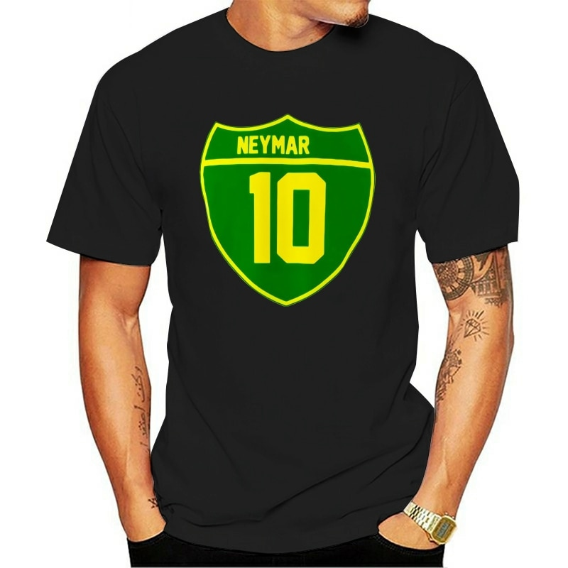 2021 t-shirt Soccersing World Neymar Of Brazil Tee New Good Russian Sportsing Cup Jurney Print Cool