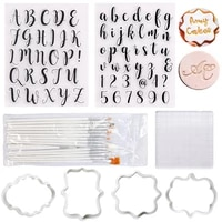 cake decorating tools alphabet fondant cookie silicone mold letters biscuit fondant mold baking tool cake cookie cutter embosser
