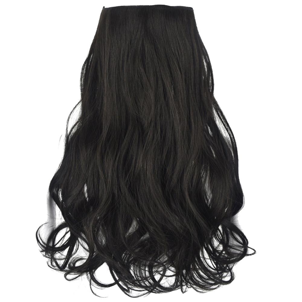 TOPREETY термостойкие синтетические волосы 120gr 18 волнистые эластичность невидимая проволока на двух застежках; 2 шт. Halo наращивание волос 8018