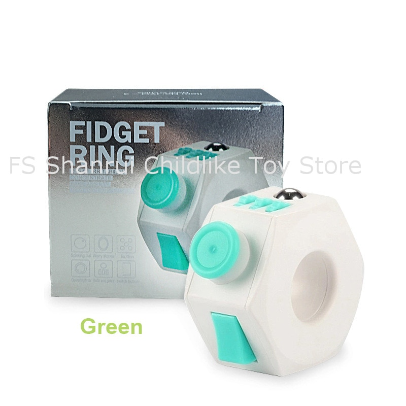 hot famous ABS  Fidget Rings anti-stress anxiety depression  stress relief cube and toys for kids enlarge