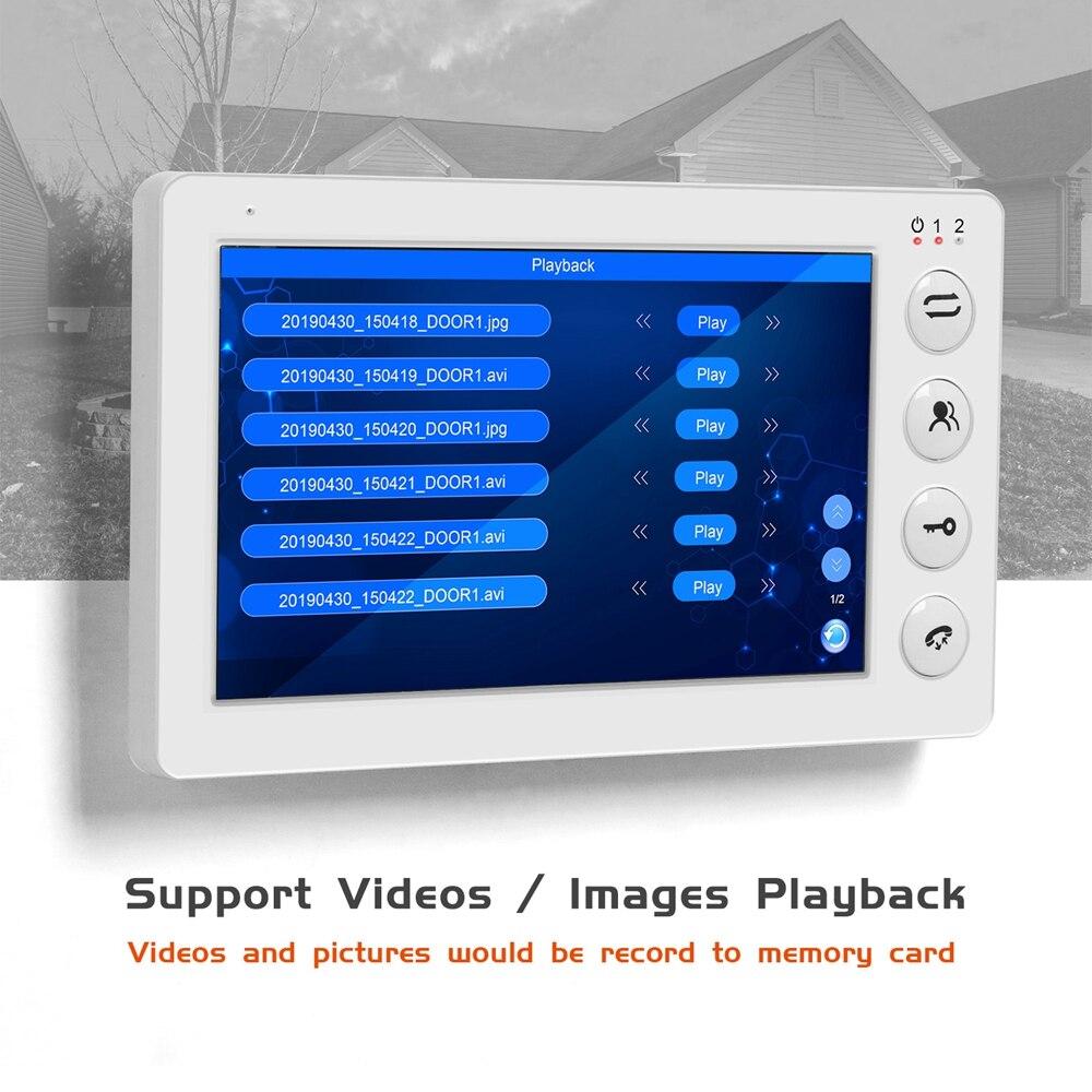 Video Door Phone Intercom Support Motion Detect 7inch Indoor Monitor x3 IR Doorbell Camera x3 For Home Video Intercom System Kit enlarge
