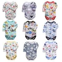 newborn bodysuit baby girl boy clothes 100cotton 1pcs cartoon print long sleeves infant clothing 0 24 months