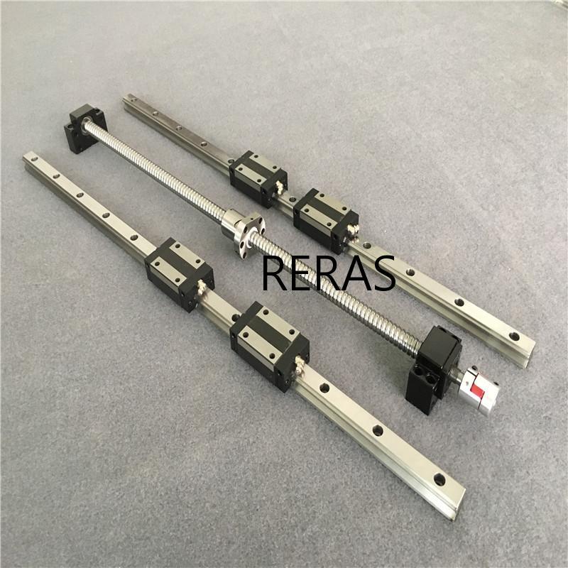1 ballscrews SFU1605 أي طول + 2 مجموعة الخطي القضبان HGR15 + ballscrew supportBK/BF12 + 1 المقرنات ل CNC شحن مجاني