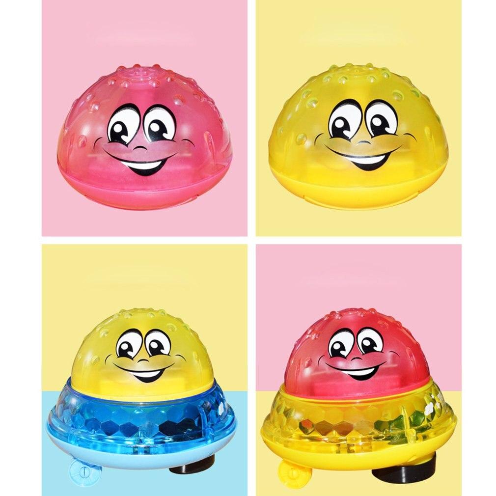Bola De Agua de inducción, luz eléctrica para baño de bebé, juguetes musicales de agua, juguete de aerosol de agua de inducción de impulso para niños