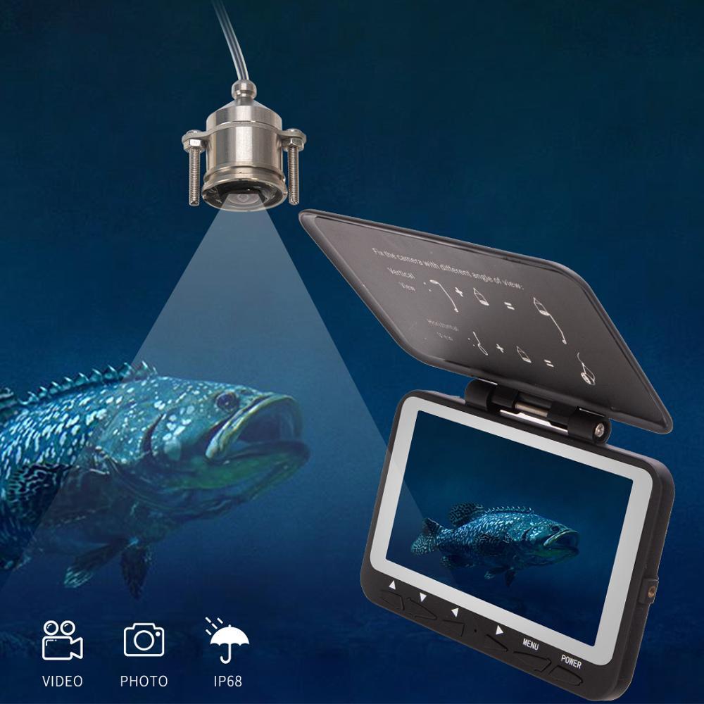 SYANSPAN Underwater Fishing Camera 15M 8pcs IR Lamp  HD 1000TVL 4.3'' LCD  Fish Finder  for Winter Sea Fishing enlarge