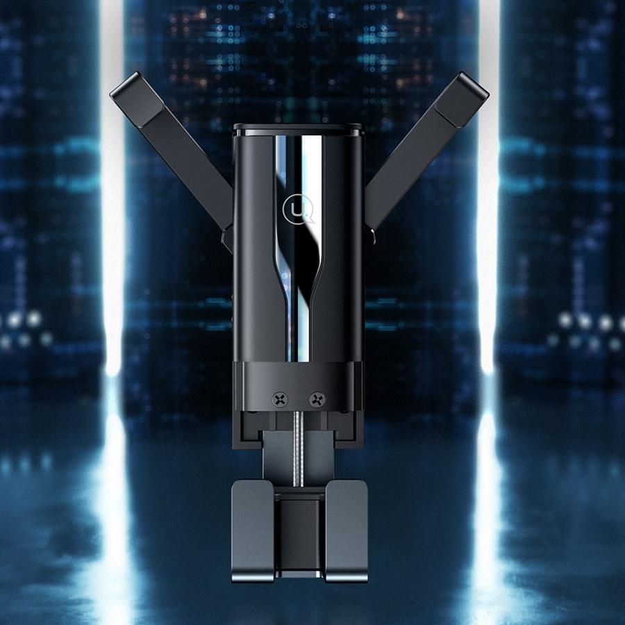 Купить с кэшбэком USAMS Universal Car Mobile Phone Holder Air Vent Mount Stand Gravity Cell Phone Holder For iPhone Samsung Phone  In Car Bracket