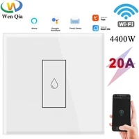 tuya wifi water heater smart switch 20a boiler app remote control eu touch button onoff electrical timer voice google home alexa