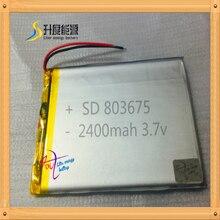 2019 echt Begrenzte Mp3/Mp4 Player Batterie Pack Yi Bateria 803675 Trimble Gps Batterie 3,7 v 2400mah Polymer