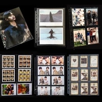 20pages lot 1 2 3 4 6 8 9 pocket 11 holes soft Photo Album cards page for Magical currency collection board game star Post card