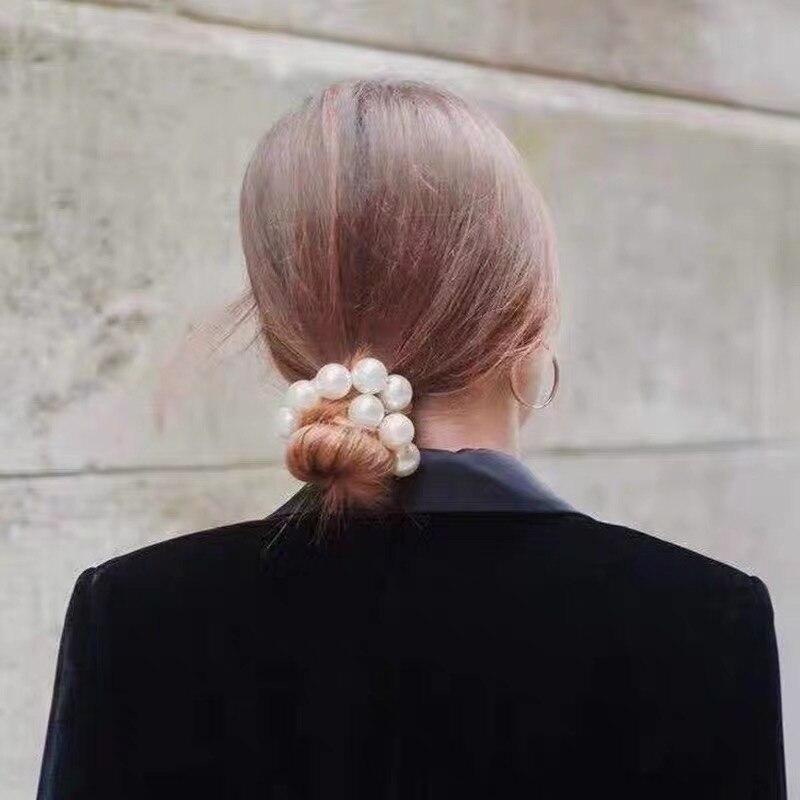 Ženske velike biserne kravate za lase, modni trak za lase v - Oblačilni dodatki - Fotografija 4